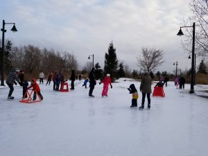 The skating trail at Colonel Samuel Smith Park in January 2019