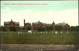 Mimico Asylum in 1910. Picture by Valentine & Sons' Publishing Co. Ltd. Courtesy of Toronto Public Library, Baldwin Collection.