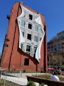 The Flatiron Mural at Berczy Park in May 2018