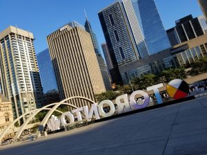 Nathan Phillips Square and the Toronto Sign in September 2018