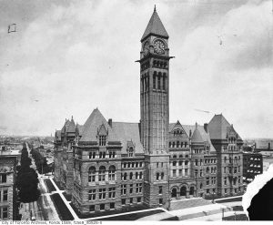 Old City Hall in its first decade. City of Toronto Archives, Fonds 1568, Item 525