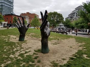 Jacob's Ladder at Berczy Park in July 2019